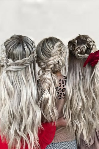 bridesmaid hairstyles simple on long hair with braids hairby_chrissy