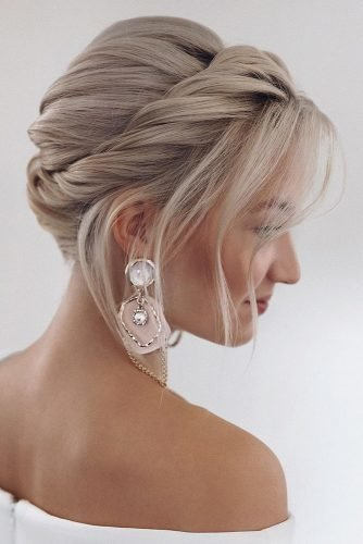 bridesmaid hairstyles swept updo on short hair tonyastylist