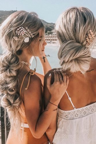bridesmaid hairstyles unusual unique messy boho styles hairby_chrissy