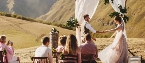 casual wedding planning outdoor simple wedding ceremony featured
