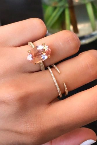 cheap engagement rings oval cut solitaire morganite