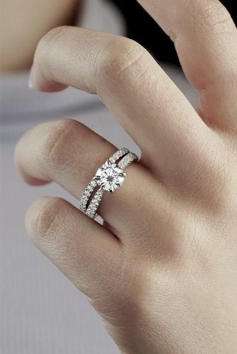 diamond wedding rings classic round cut diamond
