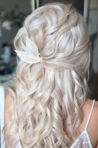 easy wedding hairstyles curly half up half down with curls martinajagr