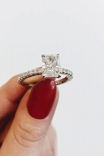 emerald cut engagement rings diamond solitaire