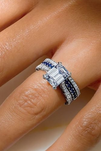 emerald cut engagement rings diamond solitaire set