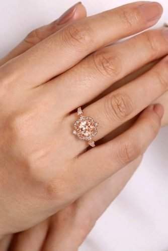 gabriel co engagement rings vintage engagement rings rose gold engagement rings floral rings gabrielandco