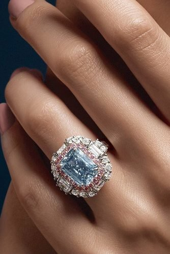 harry winston engagement rings double halo blue gemstone
