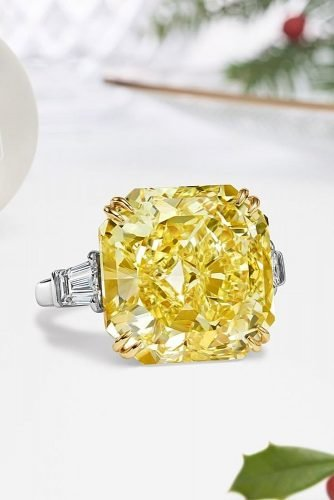 harry winston engagement rings solitaire yellow diamond white gold