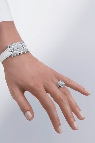 harry winston engagement rings white gold halo diamond pave band
