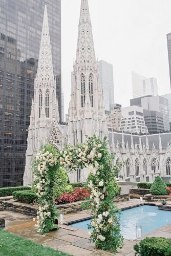 outdoor wedding venues wedding ceremony decoration on the nyc roof