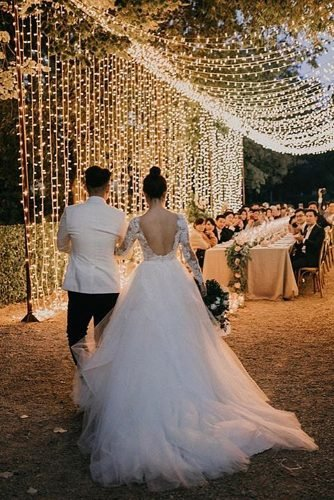 outdoor wedding venues wedding reception decor with lights