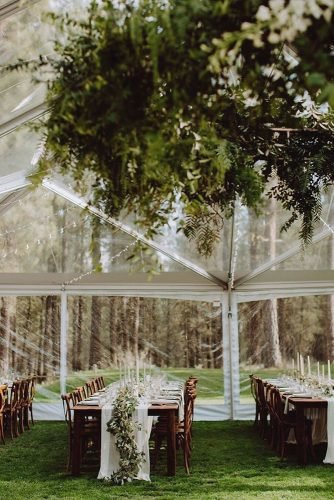 outdoor wedding venues wedding reception in the forest
