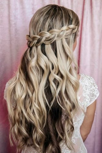 pinterest wedding hairstyles half up half down braid melissa clare
