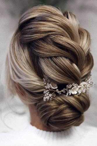 pinterest wedding hairstyles low updo blonde hair braided textured tonyastylist