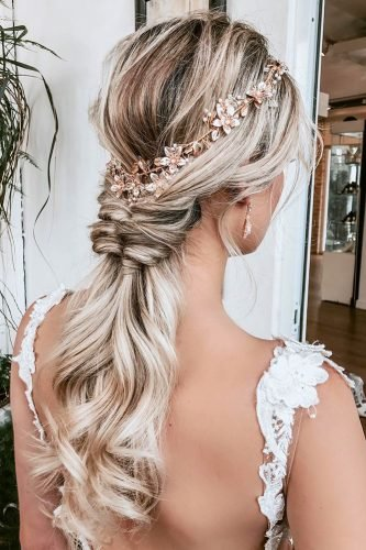 pinterest wedding hairstyles swept long ponytail on blonde hair alexarizmendyhair