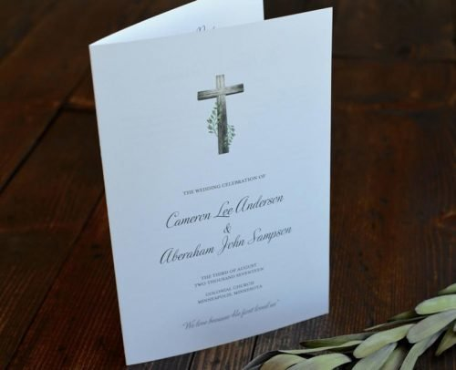 religious wedding programs christian wedding ceremony program