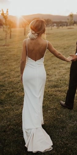 rustic wedding dresses sheath with straps beach made with love