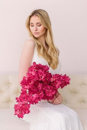 single bloom wedding bouquets bougainvilleas bouquet bridal