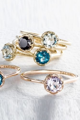 tacori engagement rings rose gold engagement rings gemstone engagement rings round cut rings tacoriofficial