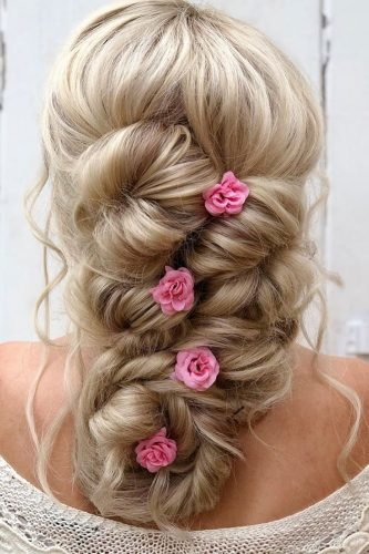 wedding hairstyles for curly hair airy fishtail braid alexandralee1016