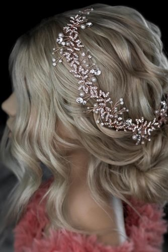 wedding hairstyles for medium hair curly low updo with sparkling headband knoxvillebridalhair