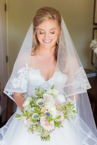 wedding hairstyles with veil half up half down with curls jamesandjess