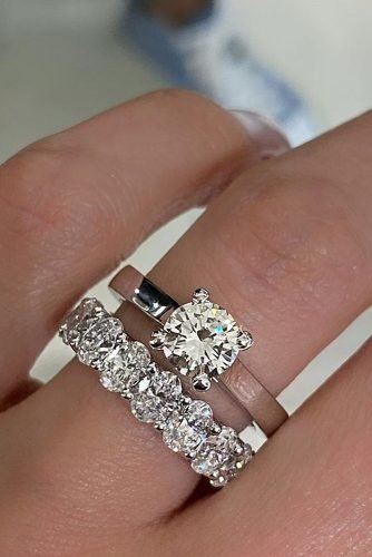 wedding rings stylish simple ring set in white gold