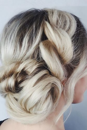 wedding updos for medium hair swept side bun annette_updo_artist
