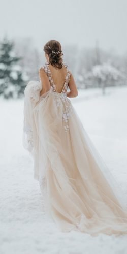 winter wedding dresses outfits a line v back blush ana gregoric