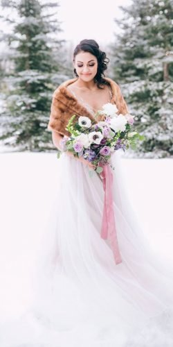winter wedding dresses outfits a line with fur cedar lane