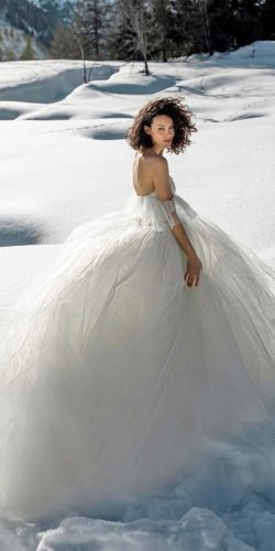 winter wedding dresses outfits ball gown simple off the shoulder elisabettalillyred