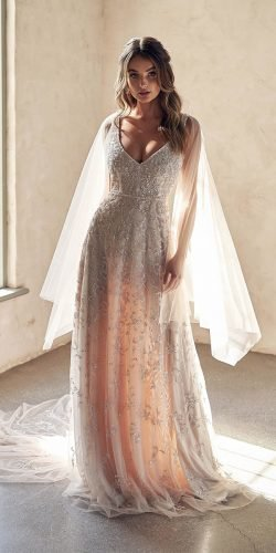 best wedding dresses a line v neckline sequins anna campbell