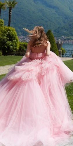best wedding dresses ball gown low back pink monique lhuiilier