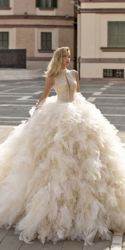 best wedding dresses ball gown sequins top ruffled skirt wona