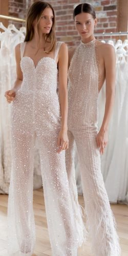 best wedding dresses jumpsuits sequins modern beach lee grebanau