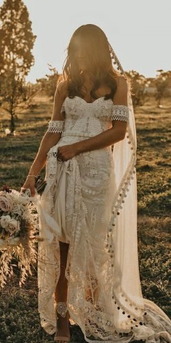 best wedding dresses sheath sweetheart neckline bohemian rustic rue de seine