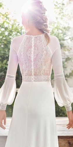 best wedding dresses with long sleeves lace back boho rosa clara