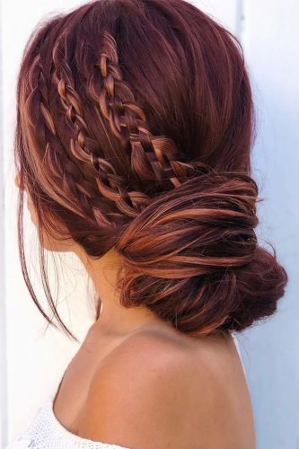 boho wedding hairstyles side small side three braids alexandralee1016