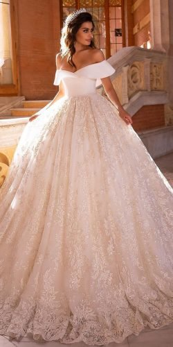disney wedding dresses ball gown off the shoulder lace tinavalerdi
