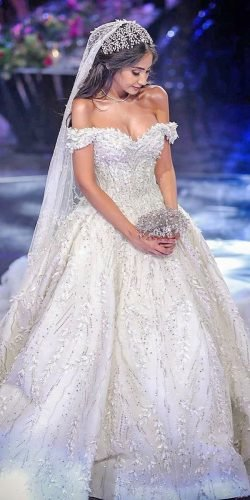 disney wedding dresses ball gown off the shoulder sweetheart neckline ziadnakad