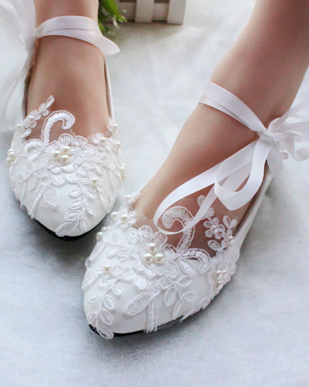 Comfortable wedding shoes by tbdress