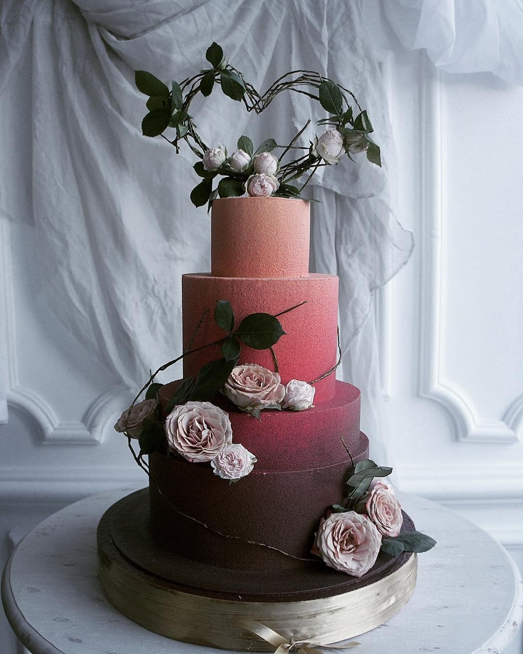 wedding cake trends dark ombre cake elena gnut cake.