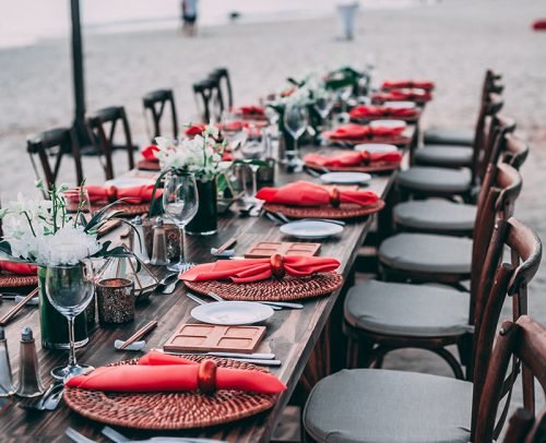 wedding caterer prices beach wedding reception