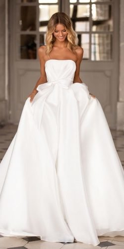 wedding dress designers simple ball gown straples neckline milla nova