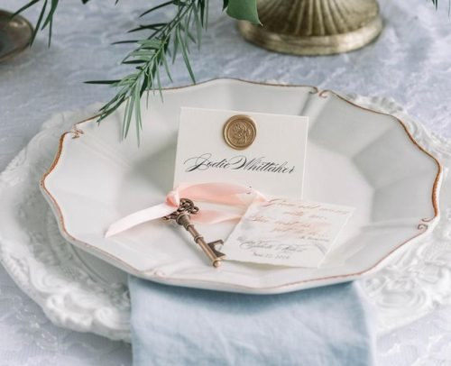 wedding place card ideas escort card with wax seal