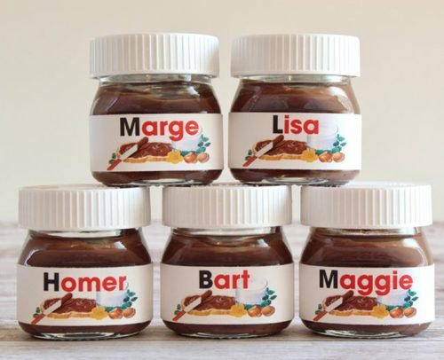 wedding place card ideas mini nutella personalized