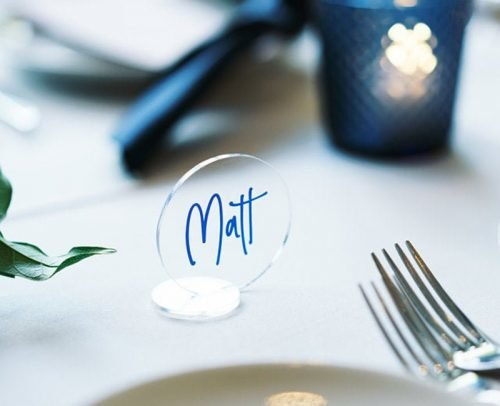 wedding place card ideas simple acrylic place card