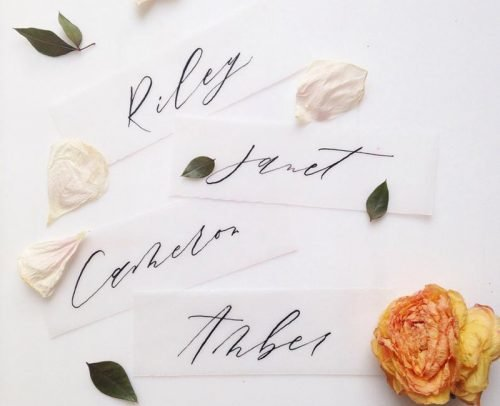 wedding place card ideas vellum place cards