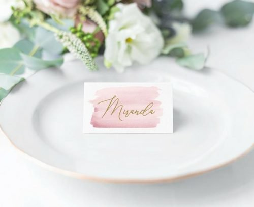 wedding place card ideas watercolor card