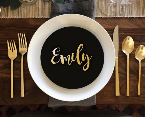 wedding place card ideas wooden name tags